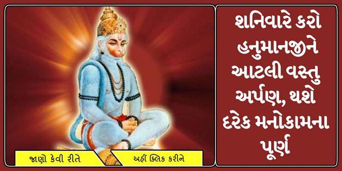 શનિવારે કરો હનુમાનજીને આટલી વસ્તુ અર્પણ, થશે દરેક મનોકામના પૂર્ણ